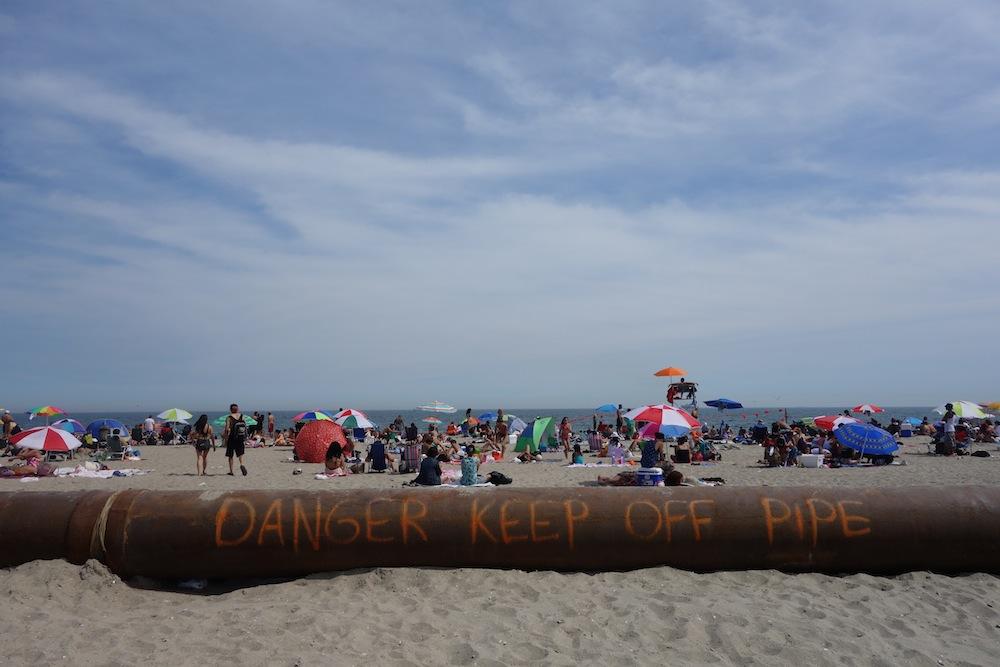 Rockaway Beach pipe