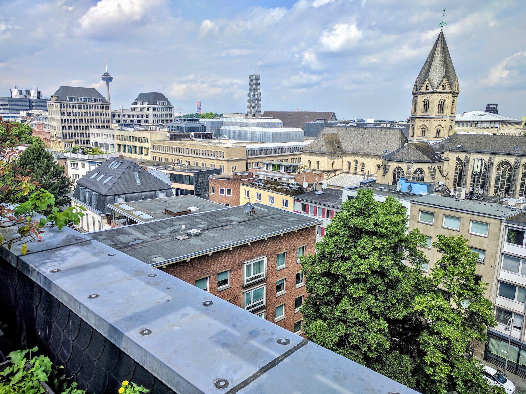 Blick auf Köln (vom WDR-Funkhaus am Wallrafplatz)