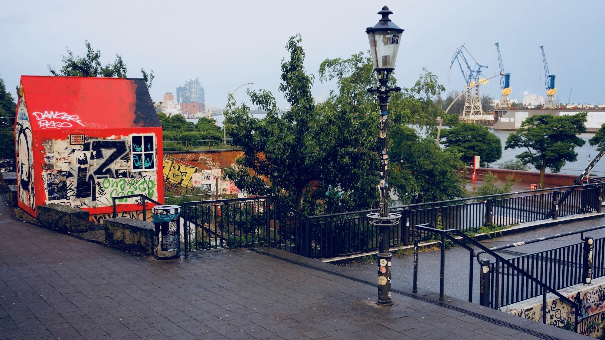 Hamburg, Park Fiction & Elbphilharmonie & Hafen